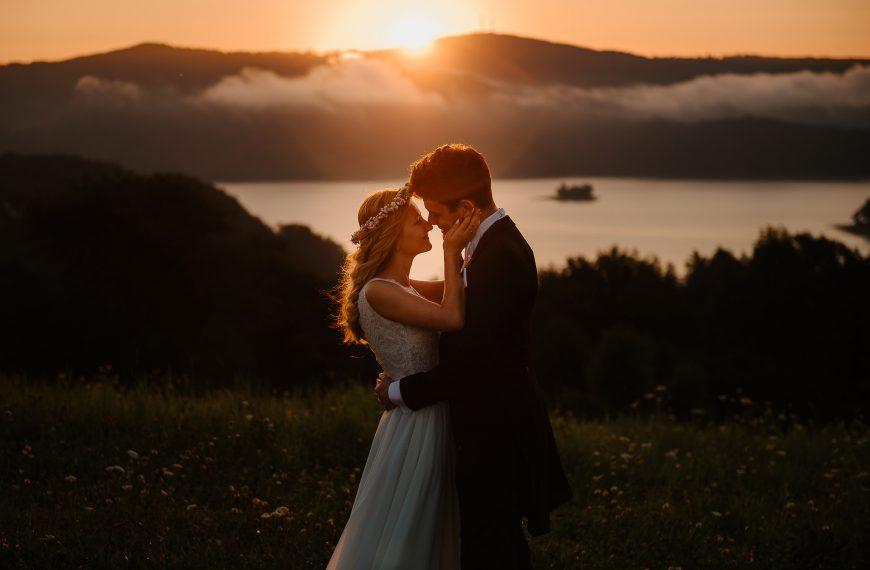 Sesja ślubna o wschodzie słońca Solina Polańczyk